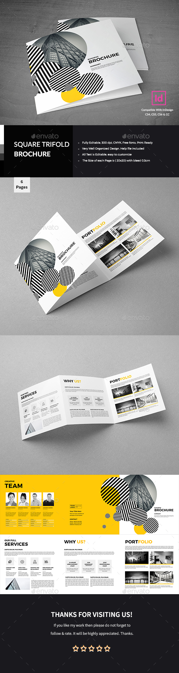 Corporate Square Trifold Brochure - Corporate Brochures