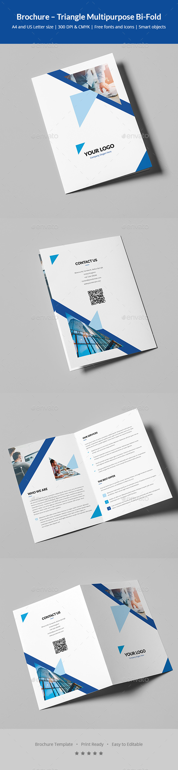Brochure – Triangle Multipurpose Bi-Fold - Corporate Brochures