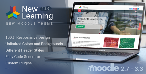 ThemeForest New Learning Premium Moodle Theme 20470826