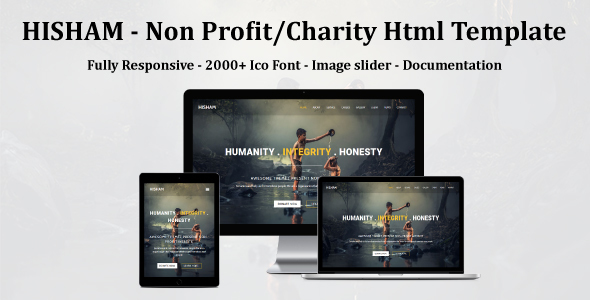 Image of HISHAM - Non Profit/Charity Html Template