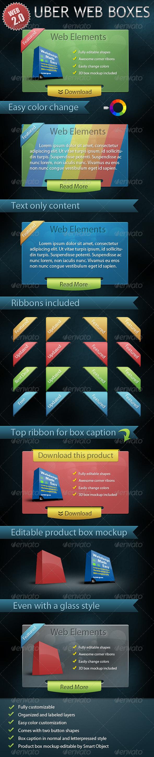 Uber Web Boxes - Miscellaneous Web Elements