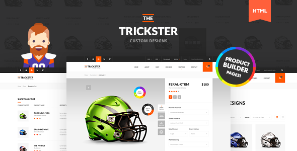 The Trickster - Multipurpose HTML Product Builder and Shop - Retail Site Templates
