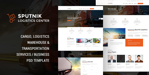 ThemeForest Sputnik Logistic Center PSD Template 20592174