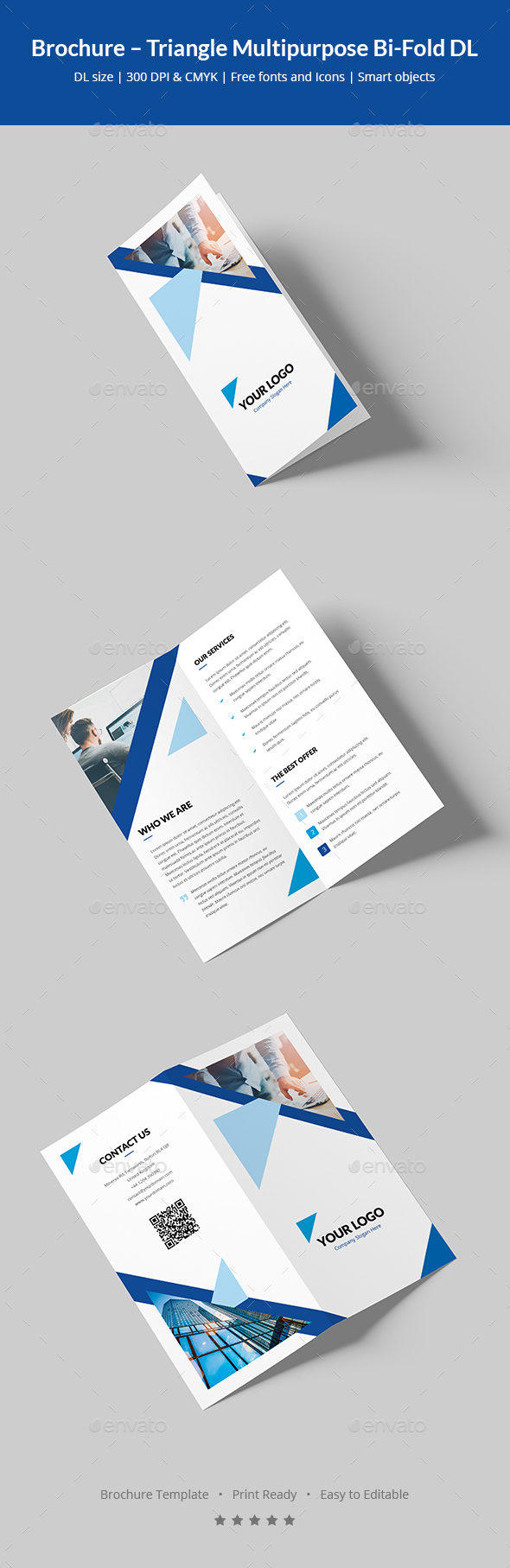 Brochure – Triangle Multipurpose Bi-Fold DL - Corporate Brochures