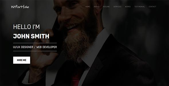 HitPortfolio Creative Personal Portfolio/CV/Resume Template