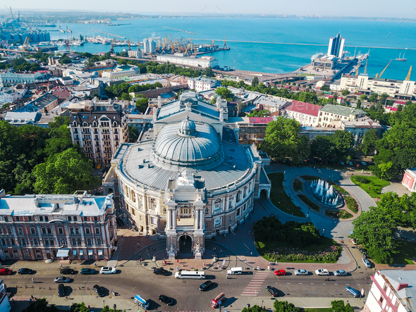 Aerial view Opera and Ballet Theater - Stock Photo - Images