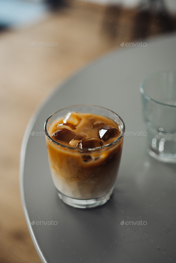 Glass Of Cold Coffee - Stock Photo - Images