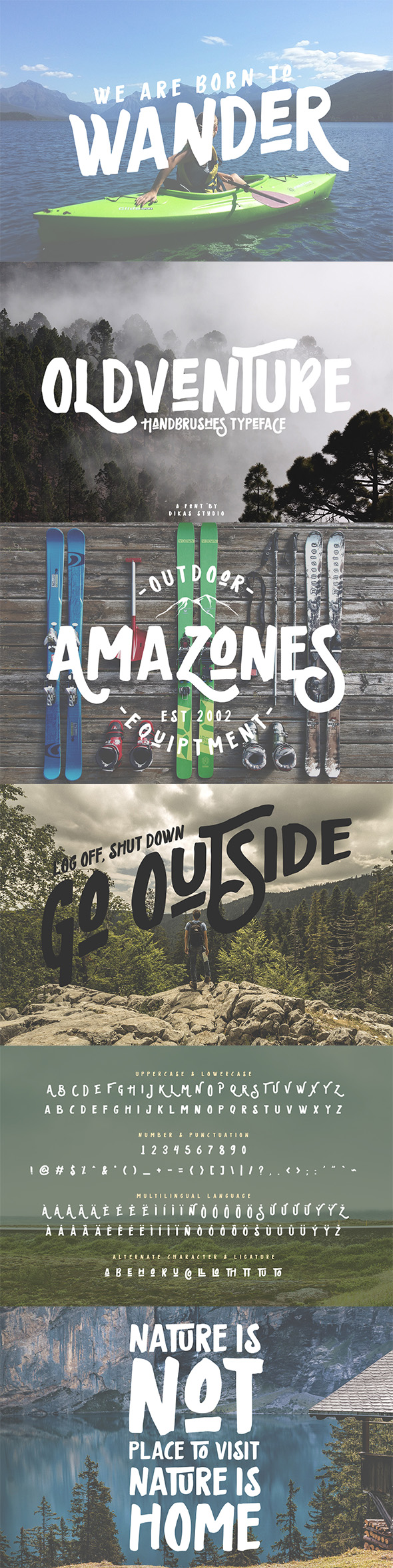 Oldventure - Handbrushes Typeface - Grunge Decorative