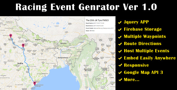 CodeCanyon Racing Event Route Planner 20592553
