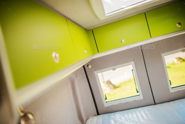 RV Storage Cabinets - Stock Photo - Images