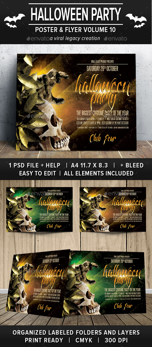 Halloween Party Poster / Flyer V10