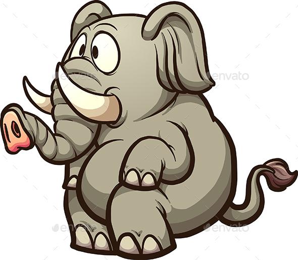 Cartoon Elephant - Animals Characters
