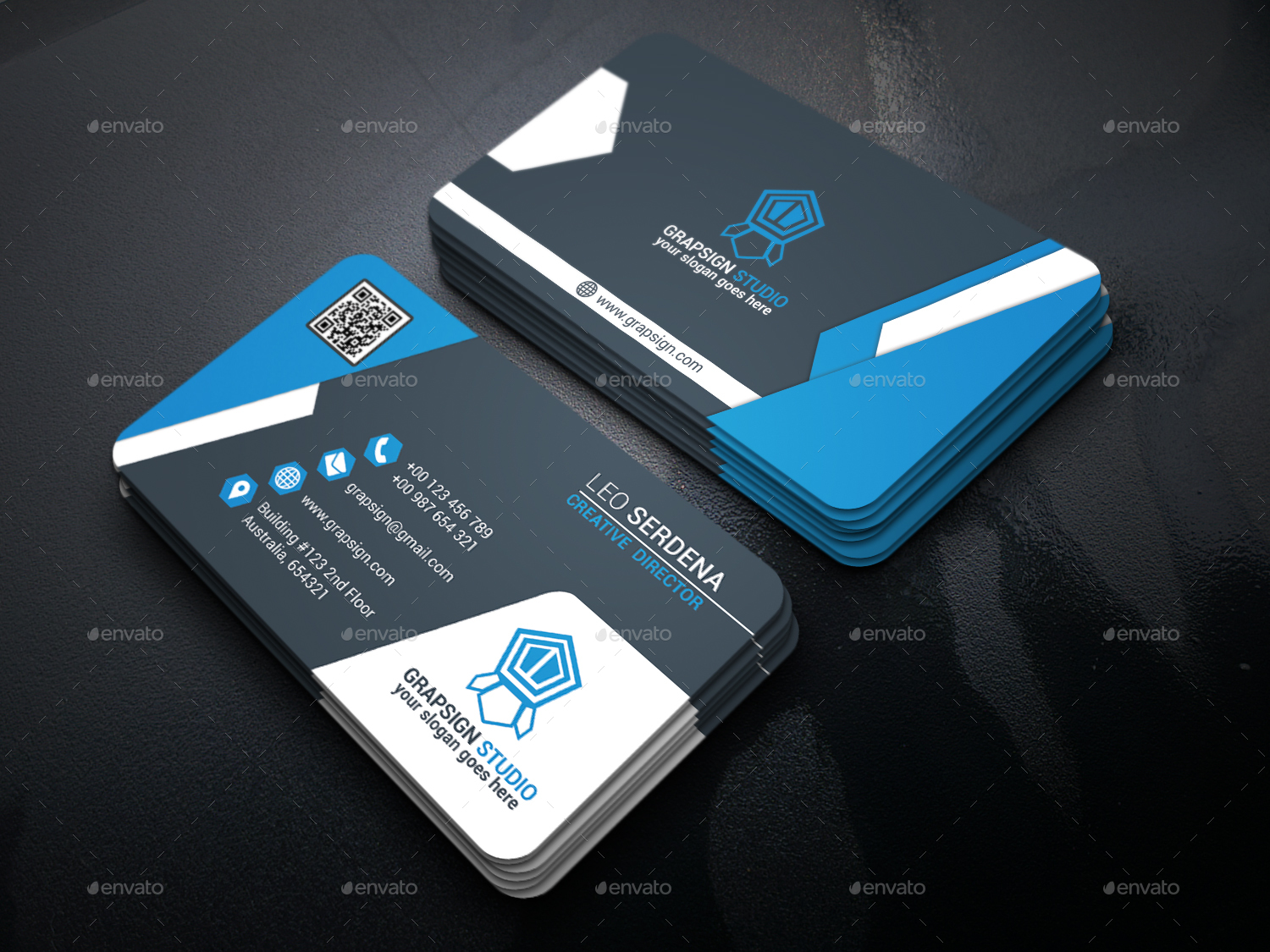 Modern business card by leoserdena graphicriver modern business card reheart Gallery