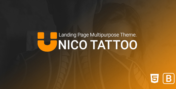 Image of Unico tattoo - Multipurpose Responsive Bootstrap Landing page Template.