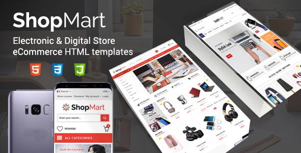 ThemeForest ShopMart Electronic & Digital Store eCommerce HTML templates 20477712