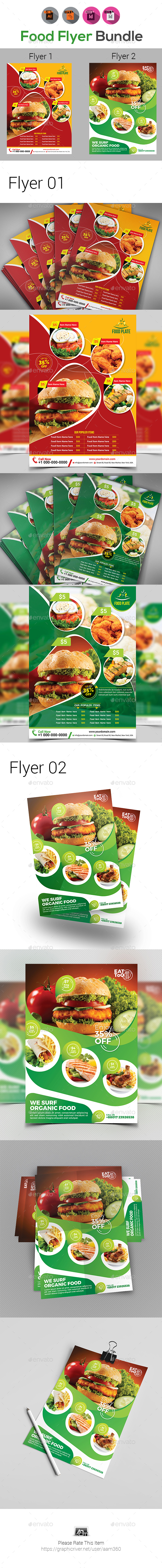 Food Flyer Template Bundle - Restaurant Flyers