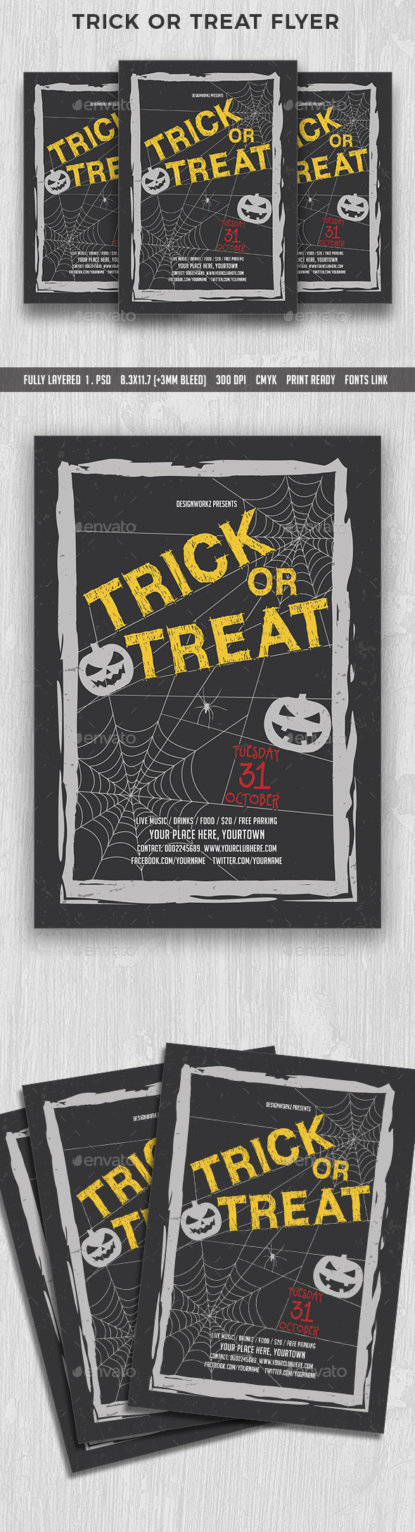 Trick or Treat Flyer - Events Flyers
