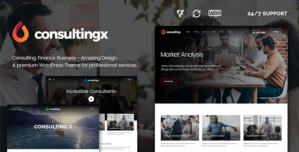 Consulting X – Consulting WordPress Theme for Consulting, Finance & Business Consulting