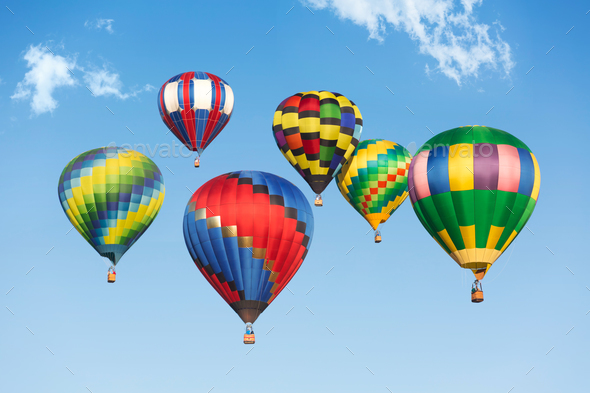 Hot air balloons - Stock Photo - Images
