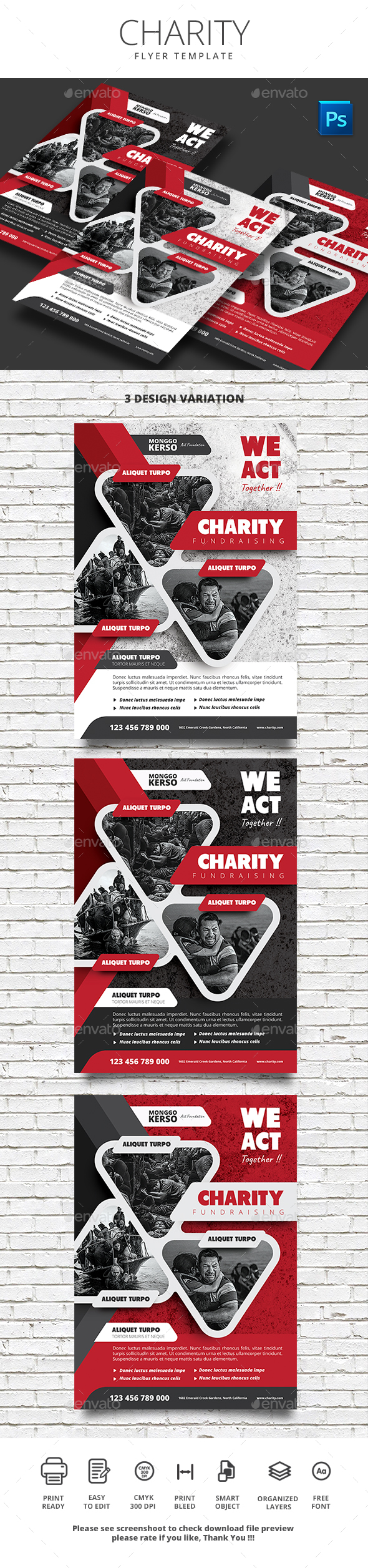 Charity Fundraising - Events Flyers