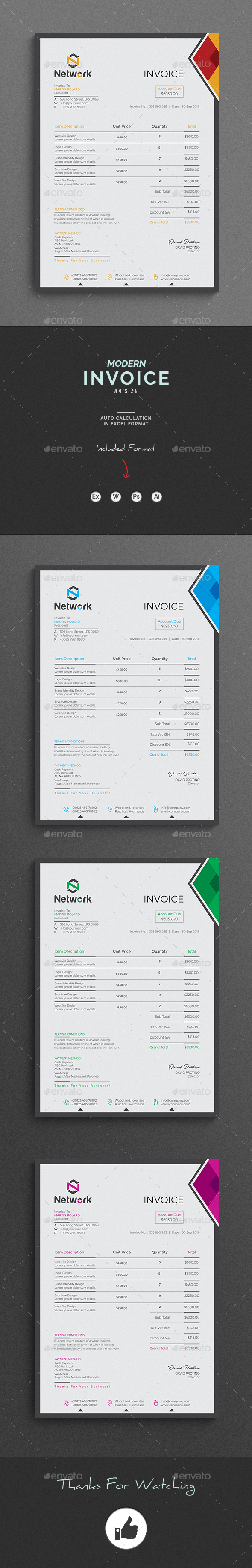 GraphicRiver Invoice 20593538