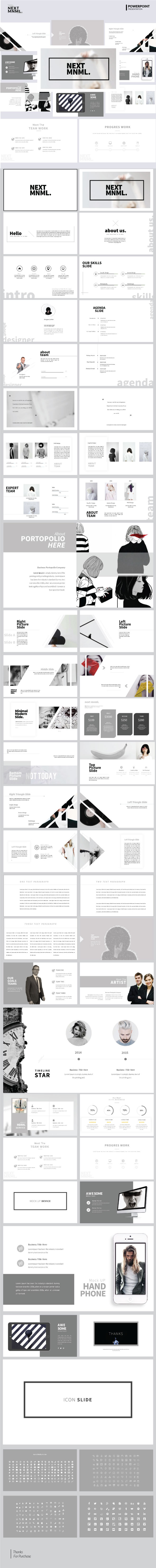 Next Mnml - Multipurpose PowerPoint Template - Business PowerPoint Templates