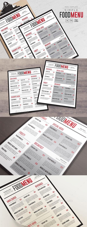 Simple FoodMenu Template - Restaurant Flyers