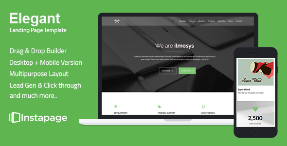 Elegant - Minimal Instapage Landing Page - Instapage Marketing