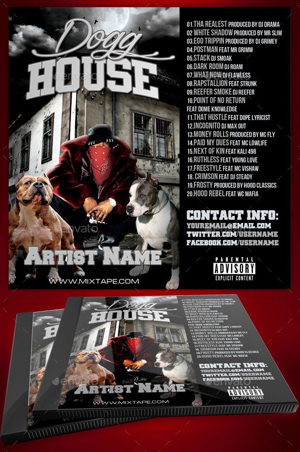 GraphicRiver Dogg House Mixtape CD Cover 20593905