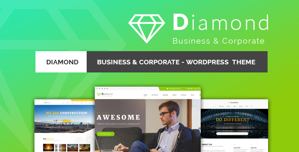 Diamond - Business & Corporate Responsive WordPress Theme