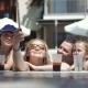 Family Taking Selfie in Pool