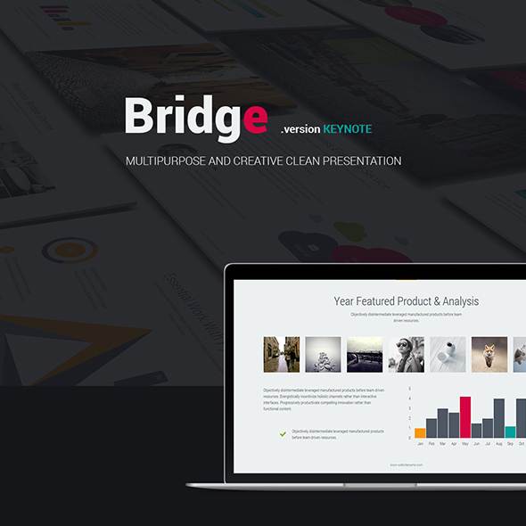 Bridge Creative Business Theme (Keynote) - Business Keynote Templates