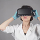Feale Doctor Conducting Experimental Medical Procedure Wearing Virtual Reality Headset - VideoHive Item for Sale