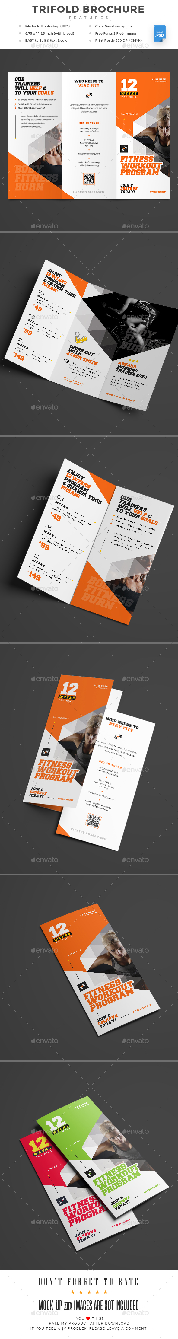 GraphicRiver Gym Trifold Brochure 20574819