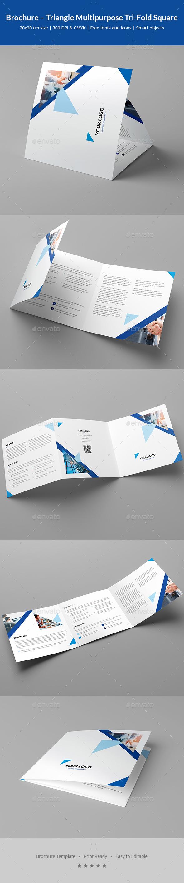 GraphicRiver Brochure Triangle Multipurpose Tri-Fold Square 20594108