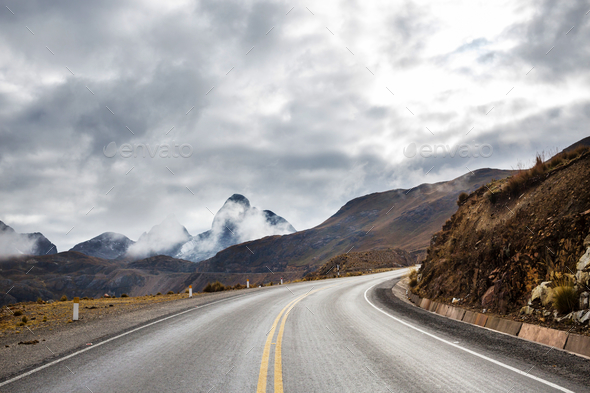 Road in mountains - Stock Photo - Images