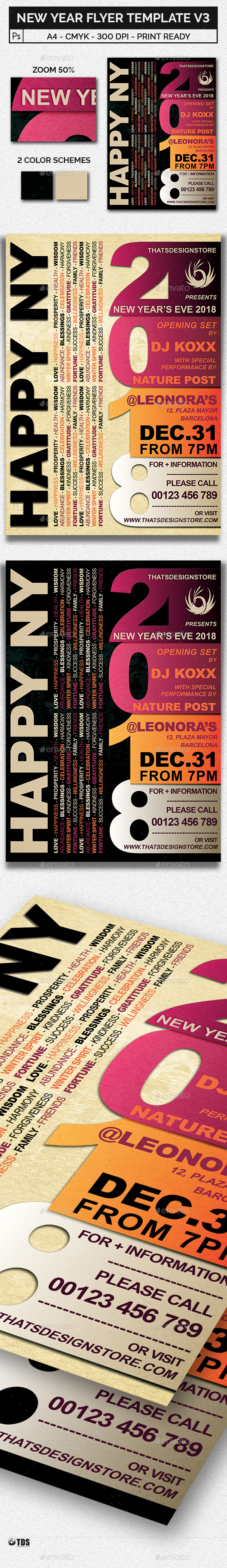 New Year Flyer Template V3 - Clubs & Parties Events