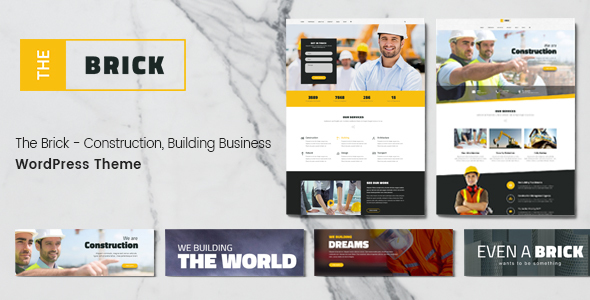 The Brick - Construction & Building Business WordPress Theme - Business Corporate