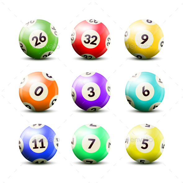 GraphicRiver Lottery Numbered Balls Set 20594368
