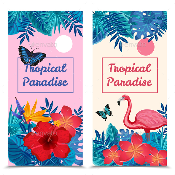 GraphicRiver Tropical Vertical Banners 20594373