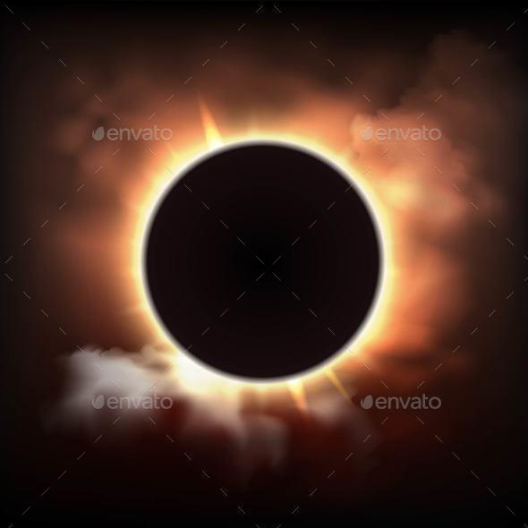 Total Sun Eclipse - Miscellaneous Vectors