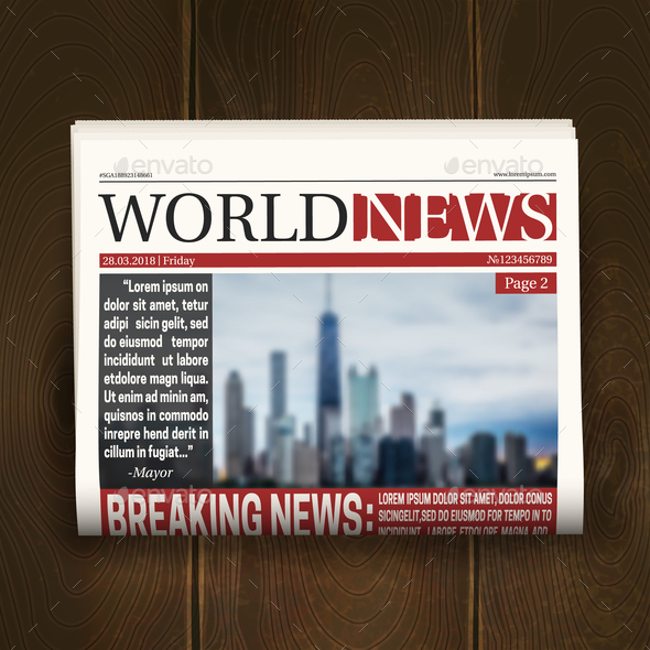 GraphicRiver Front Page Newspaper Realistic Poster 20594378