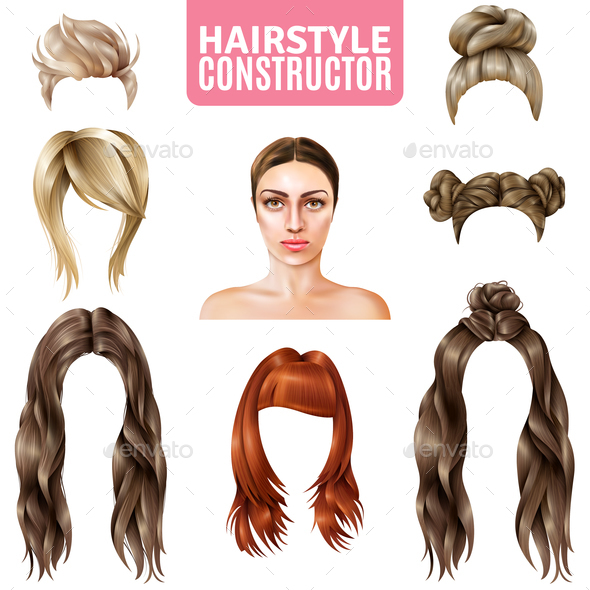 Hairstyles For Women Constructor - People Characters