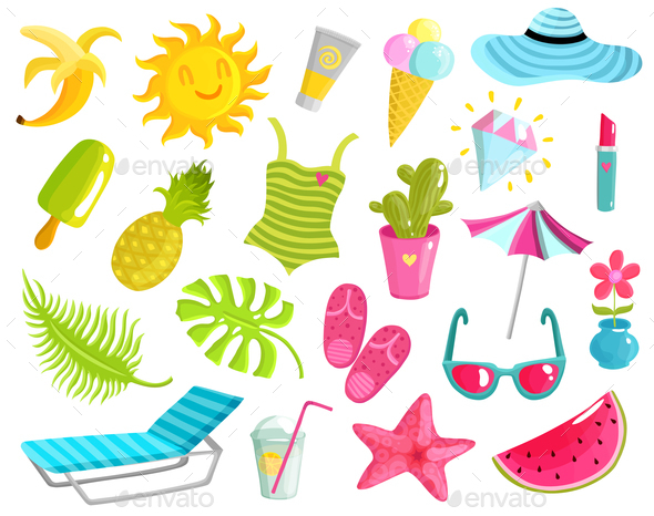 GraphicRiver Collection Of Summer Stuff 20594388