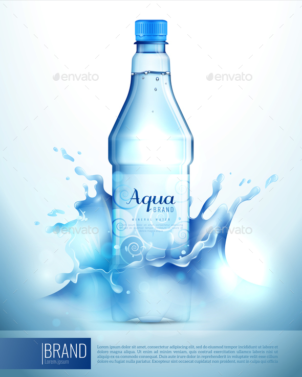 GraphicRiver Plastic Bottle In Splashes Poster 20594405