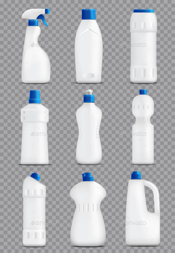 GraphicRiver Detergent Bottles Packaging Collection 20594404