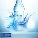 Plastic Bottle In Splashes Poster
