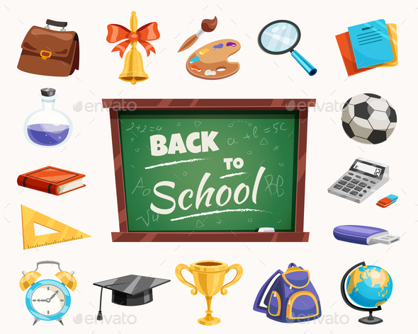 GraphicRiver Back To School Composition Poster 20594415