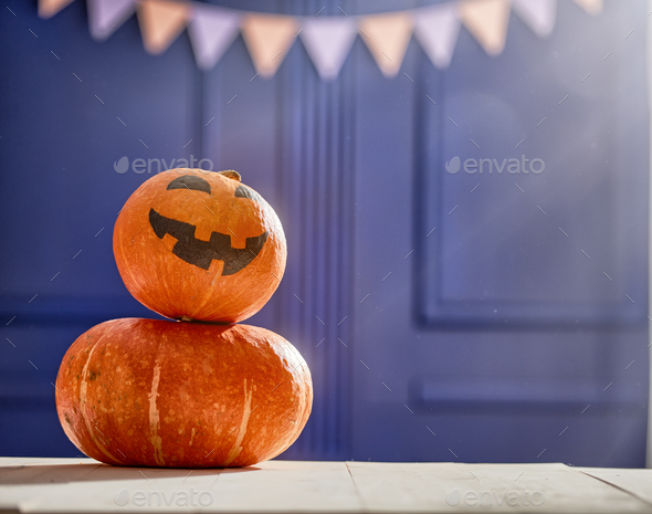 Pumpkin on the desk - Stock Photo - Images
