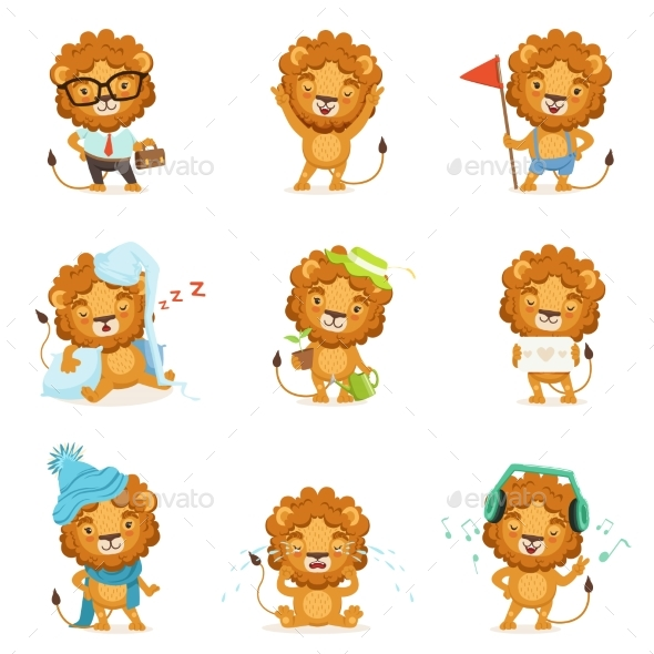 Lion Characters - Animals Characters